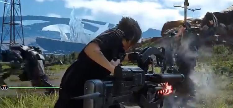 FFXV Auto Crossbow Battle Screenshot