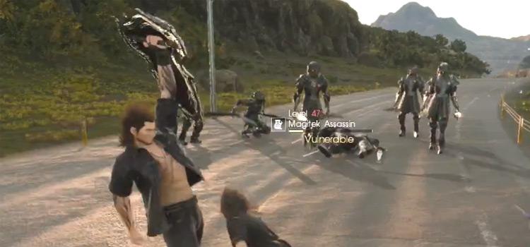 Ziedrich Shield in Battle / Final Fantasy XV