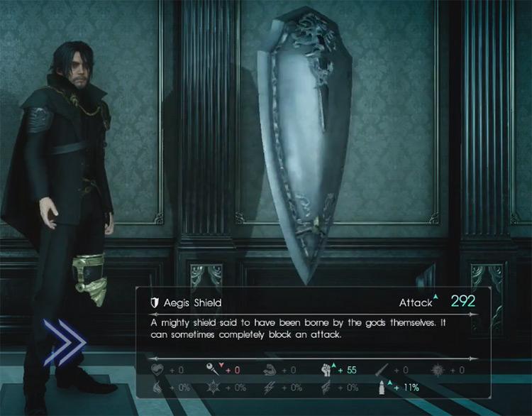 Aegis Shield Screenshot / Final Fantasy XV