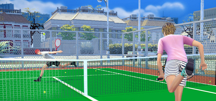 Sims 4 Tennis Pose Pack Screenshot