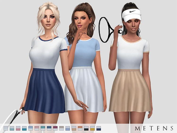 Pliskova Dress Tennis Attire for The Sims 4