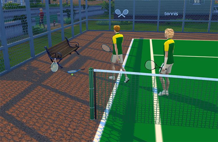 Tennis Racket & Tennis Court CC Set / The Sims 4