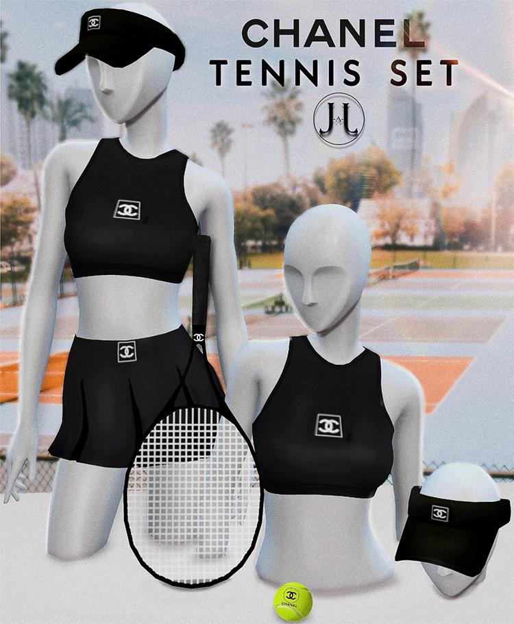 Chanel Tennis Set / Sims 4 CC