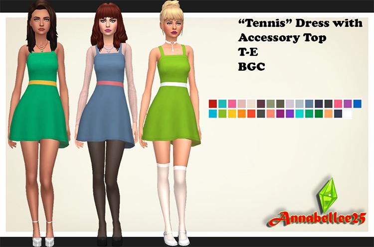 Tennis Dress Preview / Sims 4 CC