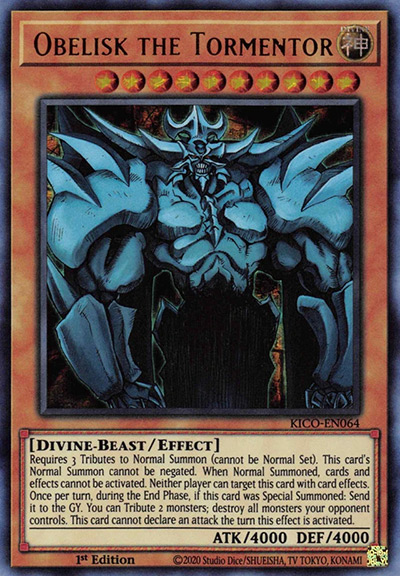 Obelisk the Tormentor Yu-Gi-Oh Card