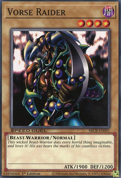 Vorse Raider YGO Card