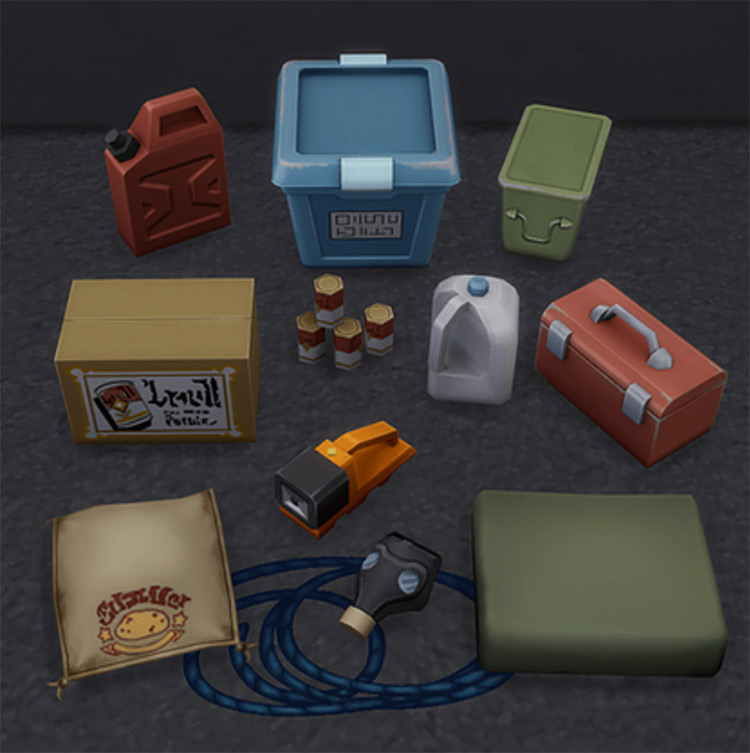 Survival Clutter for The Sims 4