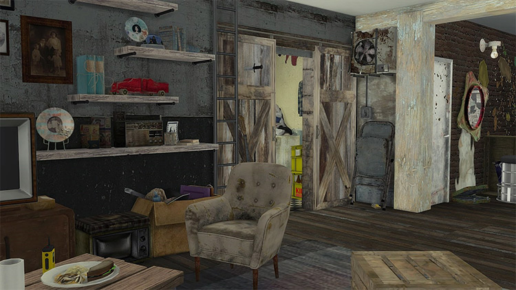 Post-Apocalyptic Life Set / Sims 4 CC