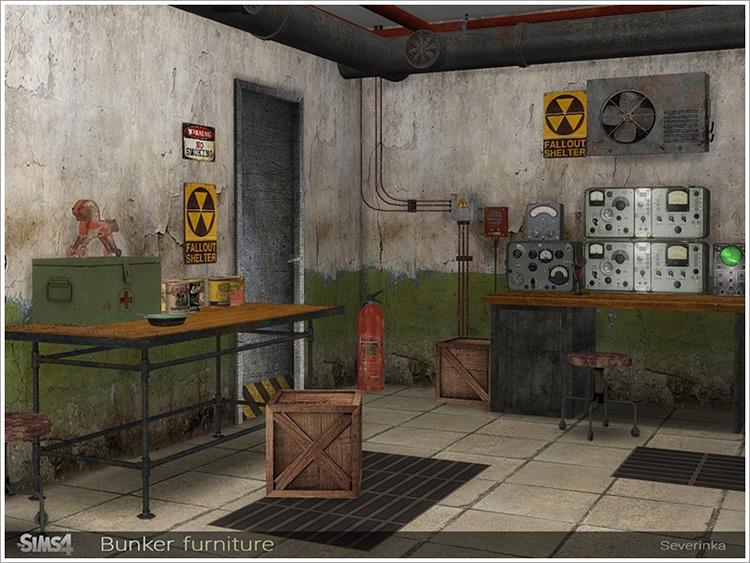 Bunker Furniture / Sims 4 CC