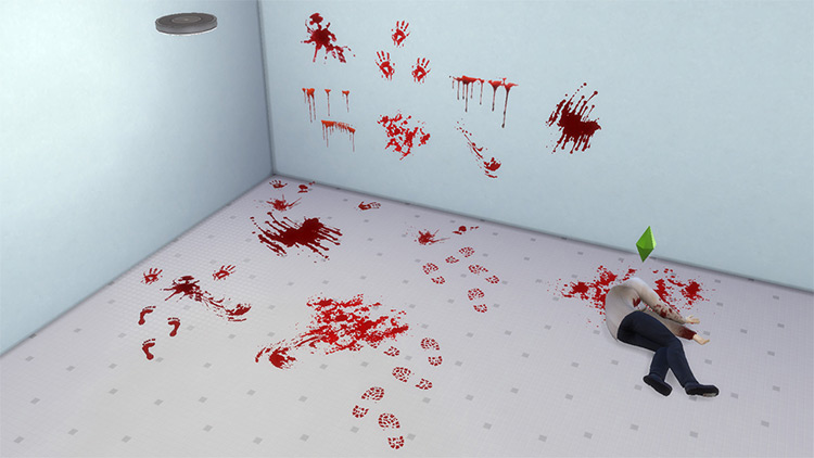 Blood Splats Stickers & Rugs / Sims 4 CC