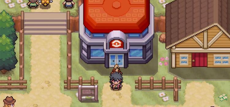 Pokemon Phoenix Rising ROMHack Pokecenter Screenshot