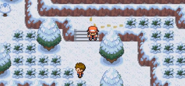 Pokemon Clover Snow Route Screenshot