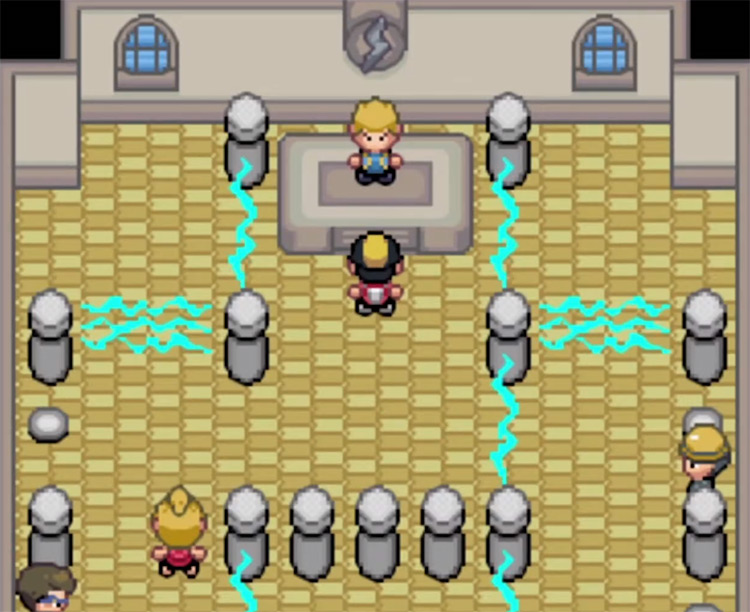 Pokémon Saffron ROM Hack / Volkner Electric Gym Screenshot
