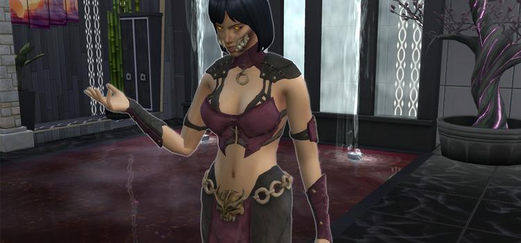 Mortal Kombat Mileena Build in The Sims 4