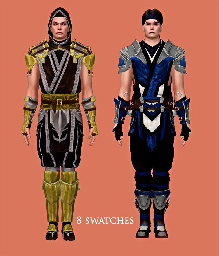 MK11 Scorpion & Sub-Zero Set / Sims 4 CC