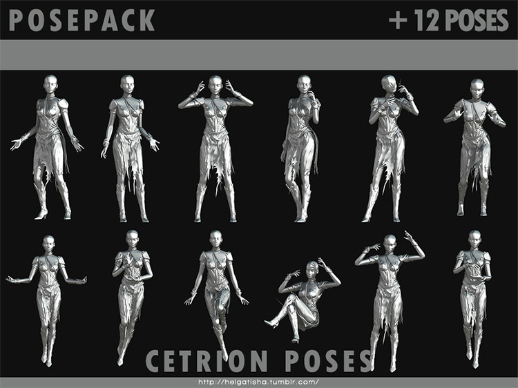 Cetrion Pose Pack for The Sims 4