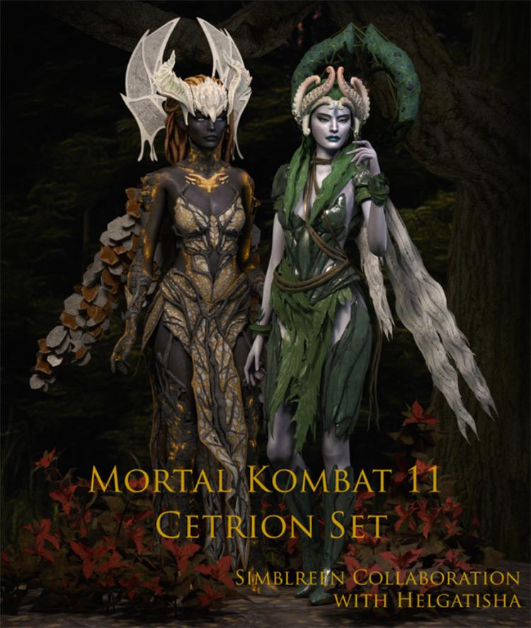 MK11 Cetrion Set / Sims 4 CC