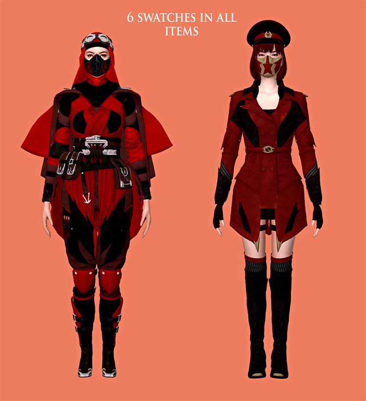 MK11 Skarlet Outfits & Accessories / TS4 CC