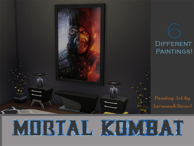 Mortal Kombat Print Collection CC for The Sims 4