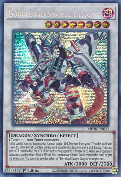 Borreload Savage Dragon YGO Card