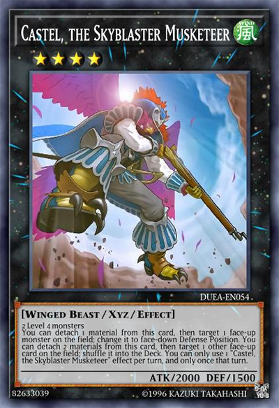 Castel the Skyblaster Musketeer Yu-Gi-Oh Card