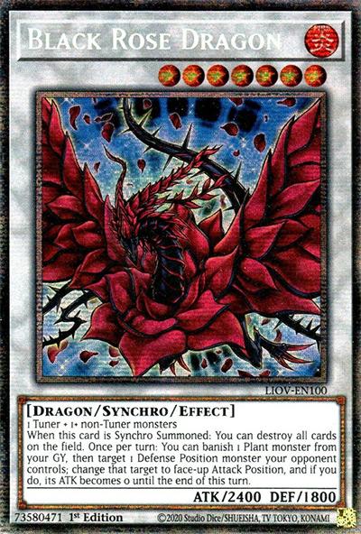 Black Rose Dragon YGO Card