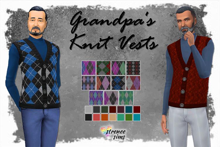 Grandpa's Knit Vest / Sims 4 CC