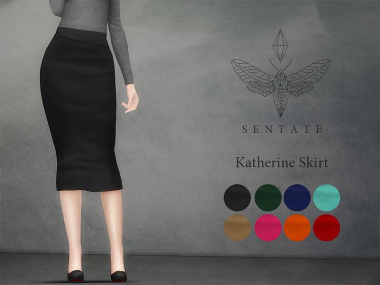Katherine Skirt For Girls / Sims 4 CC