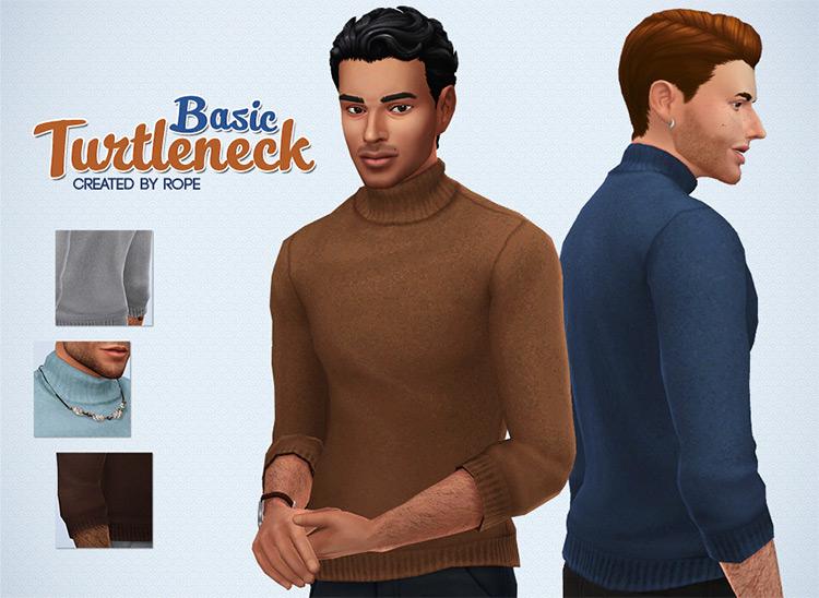 Basic Turtleneck / Sims 4 CC