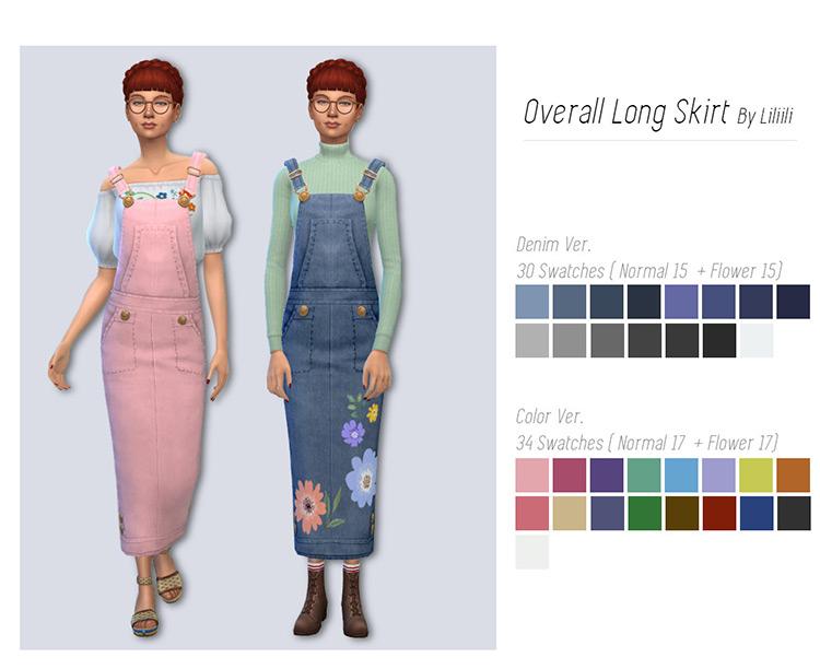 Overall Long Skirt / TS4 CC