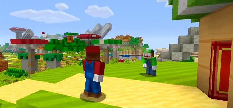 Mario and Luigi in Minecraft by Tripolar