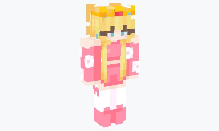 Princess Peach in Bright Colors / Minecraft Skin