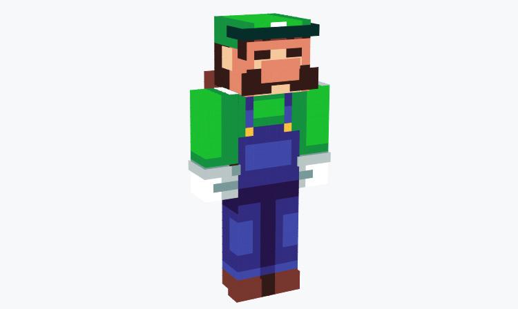 Old 8-bit Luigi / Minecraft Skin