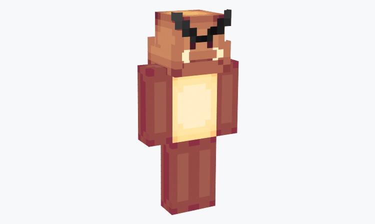 Regular Goomba as a human / Minecraft Skin