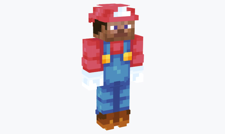 Steve wearing Mario Outfit / Minecraft Skin
