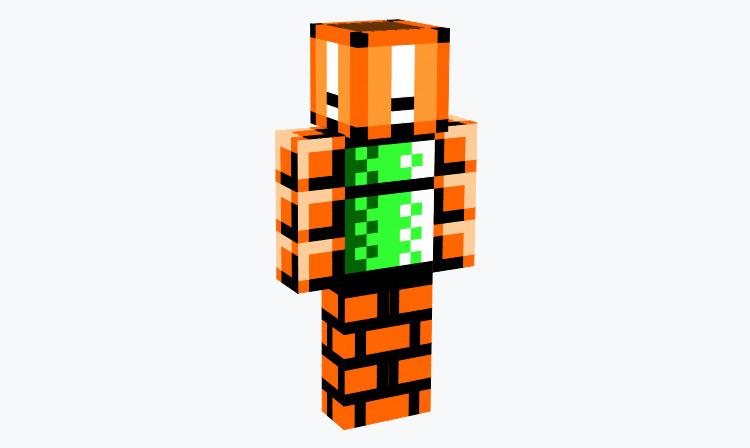Blocky Mario Pixel Skin / Minecraft Skin
