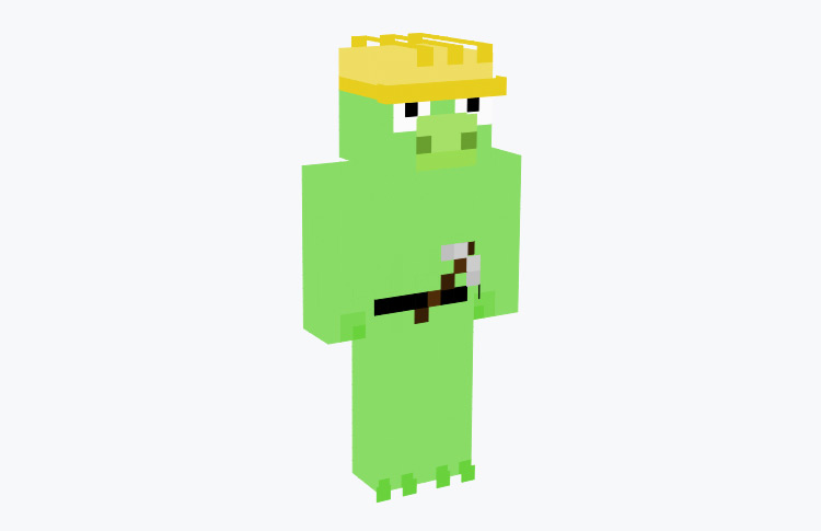 Worker Pig Angry Birds Minecraft Skin