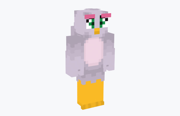 Silver Angry Birds Minecraft Skin