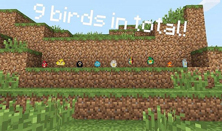Angry Birds Mod For Minecraft