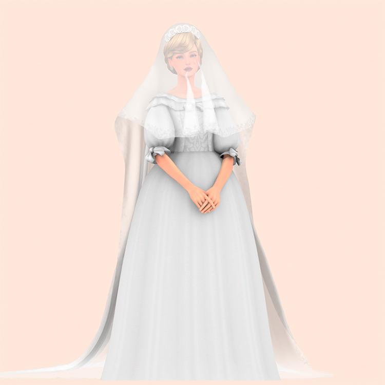 Diana Wedding Dress / TS4 CC