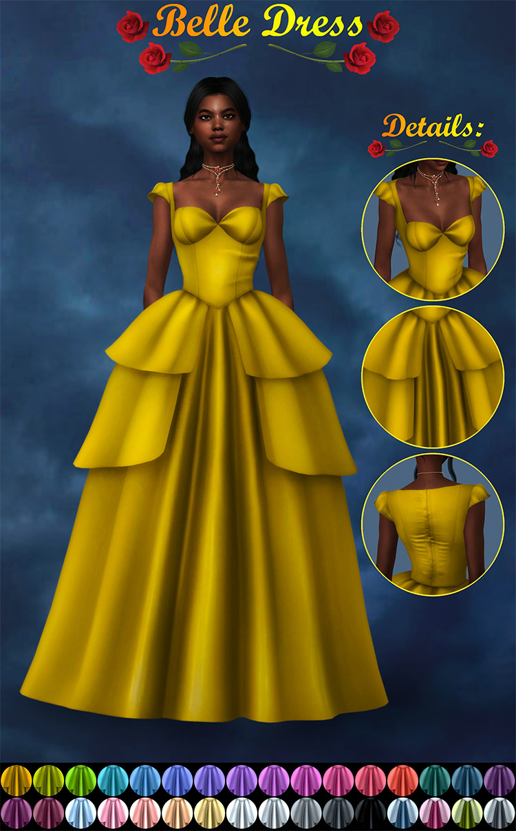 Belle Dress for The Sims 4