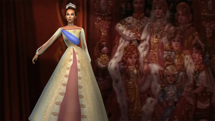 Royal Gown CC for The Sims 4