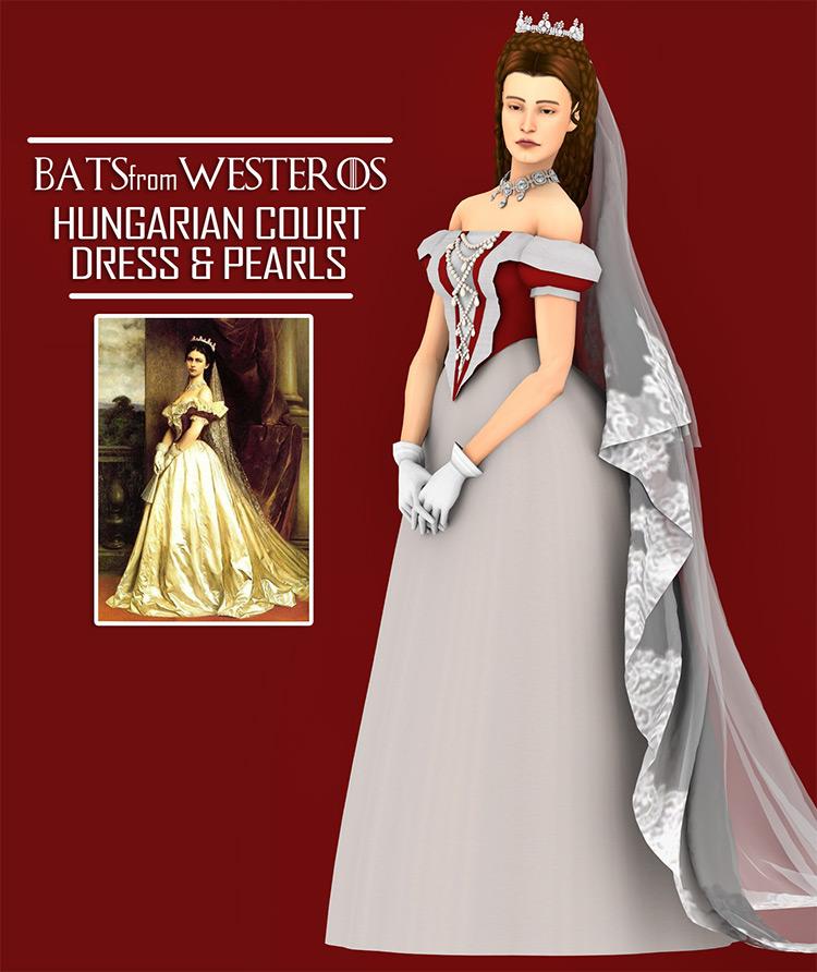 Hungarian Court Dress & Pearls / TS4 CC