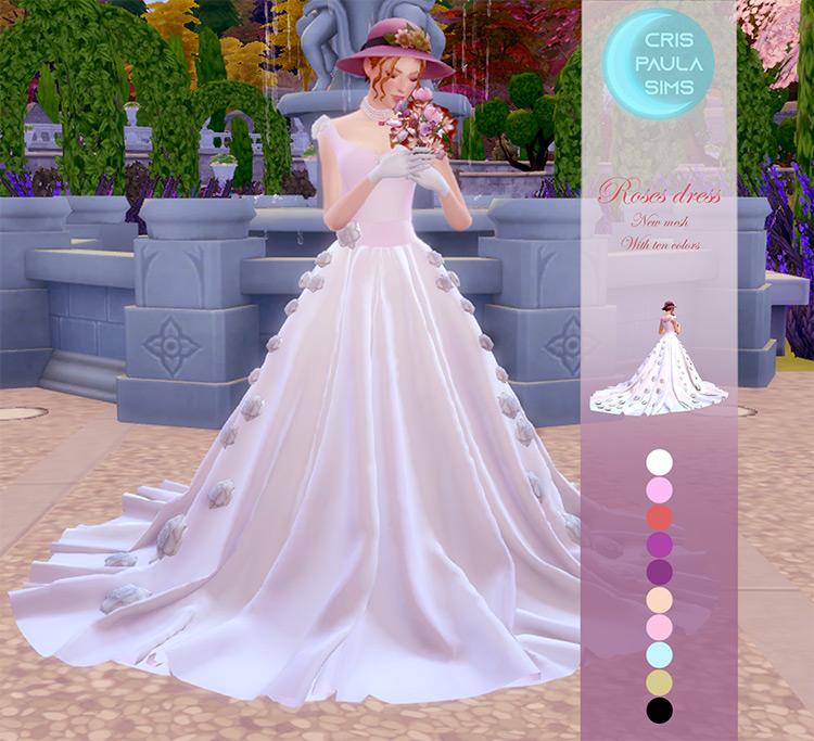Roses Dress / Sims 4 CC
