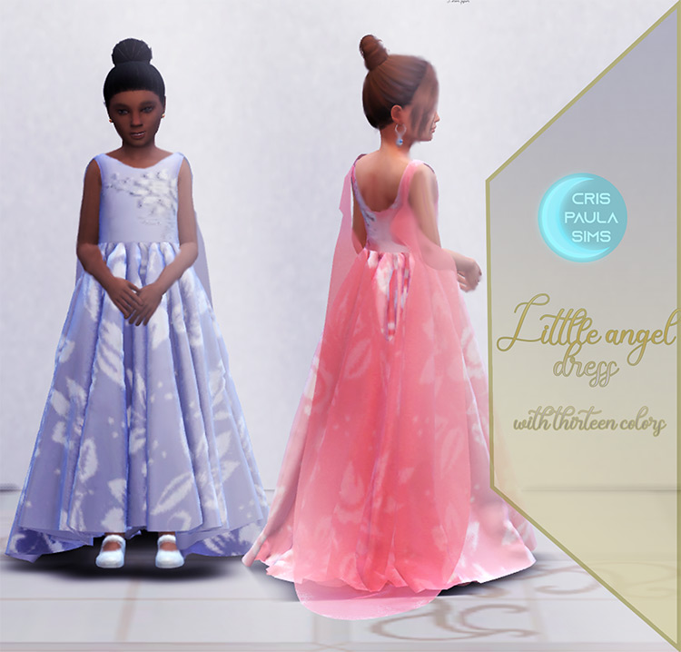 The Little Angel Dress for The Sims 4