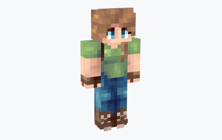 Female Adventurer Tomboy Design / Minecraft Skin