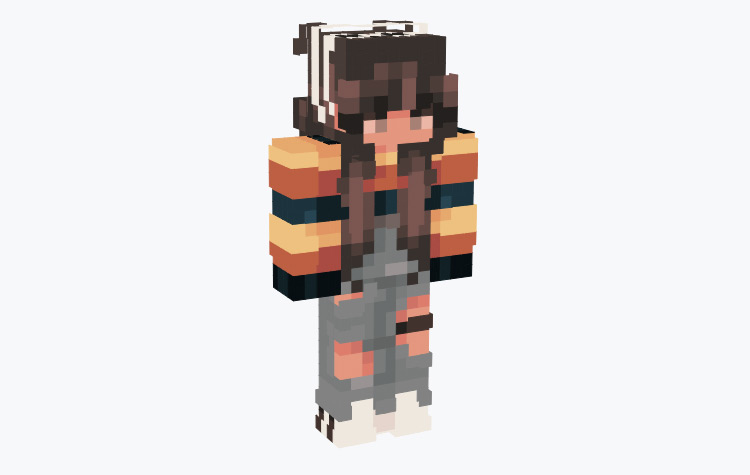 Golden Shaded Female Tomboy / Minecraft Skin