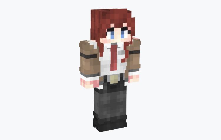 Kurisu Makise SteinsGate Character / Minecraft Skin