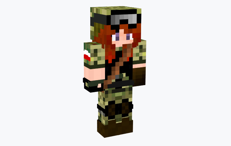 Combat Girl Tomboy / Minecraft Skin