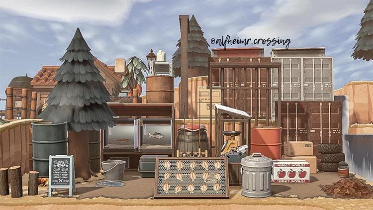 Junkcore & Trashcore Shipping Yard / ACNH Idea